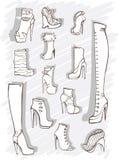 Illustration de vecteur avec des enveloppes et un crayon lecteur illustration stock