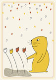 Illustration de vecteur avec l'écureuil Photo stock