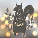 Illustration de vecteur avec l'écureuil Image libre de droits