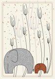 Illustration de vecteur avec l'éléphant illustration libre de droits