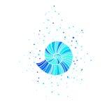 Illustration de vecteur avec l'ammonite Thème de mer Photo libre de droits