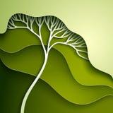 Illustration de vecteur avec l'arbre stylisé Image libre de droits