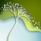 Illustration de vecteur avec l'arbre stylisé Photographie stock libre de droits