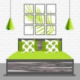 Illustration de vecteur avec la chambre à coucher dans le style plat illustration libre de droits