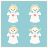 Illustration de vecteur avec quatre anges Photographie stock libre de droits
