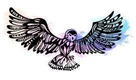 Illustration de vecteur avec un hibou mignon image libre de droits