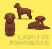 Illustration de vecteur de bande dessinée de Lagotto Romagnolo de chien illustration de vecteur
