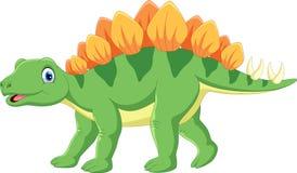 Illustration de vecteur de bande dessinée mignonne de stegosaurus illustration stock