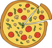 Illustration de vecteur de bande dessinée de pizza italienne Image stock