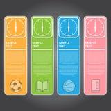 Illustration de vecteur, bannière d'horloge pour la conception et créatif modernes Photos libres de droits