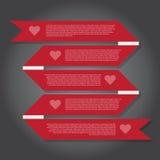 Illustration de vecteur, bannière de ruban pour le travail de conception Photos stock