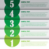 Illustration de vecteur, bannière moderne d'Infographic pour le travail créatif Images stock