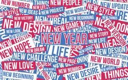 Illustration de vecteur de bonne année avec le texte Images stock