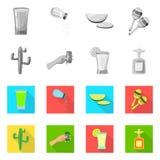 Illustration de vecteur de café et de logo latin Collection de café et de symbole boursier national pour le Web illustration de vecteur