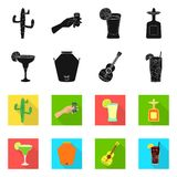 Illustration de vecteur de caf? et de logo latin Collection de caf? et ic?ne nationale de vecteur pour des actions illustration de vecteur