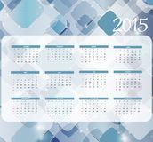 Illustration de vecteur Calendrier de la nouvelle année 2015 Images stock