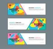 Illustration de vecteur de calibre de conception de bannière de Web, fond géométrique, texture abstraite, disposition d'advetisem illustration stock
