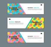 Illustration de vecteur de calibre de conception de bannière de Web, fond géométrique, texture abstraite, disposition d'advetisem illustration libre de droits