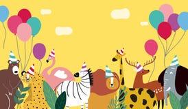 Illustration de vecteur de calibre de thème d'animaux illustration de vecteur