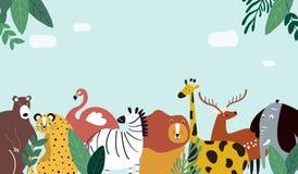 Illustration de vecteur de calibre de thème d'animaux illustration libre de droits