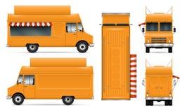 Illustration de vecteur de camion de nourriture Photographie stock