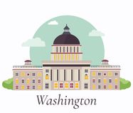 Illustration de vecteur de capitol à Washington illustration stock