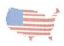 Illustration de vecteur de carte des Etats-Unis photo libre de droits