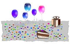 Illustration de vecteur de carte de voeux de joyeux anniversaire EPS10 Image libre de droits