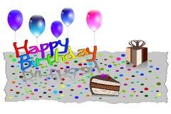Illustration de vecteur de carte de voeux de joyeux anniversaire EPS10 Photographie stock