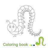 Illustration de vecteur de chenille drôle pour livre de coloriage illustration libre de droits