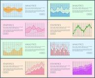 Illustration de vecteur de collection de statistique d'Analytics Photographie stock libre de droits