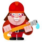 Illustration de vecteur commencée par Ready To Get de sapeur-pompier illustration libre de droits