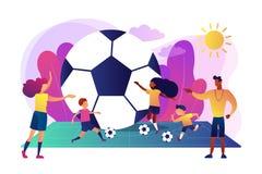 Illustration de vecteur de concept de camp du football illustration de vecteur