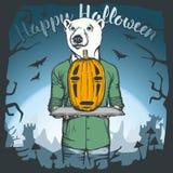 Illustration de vecteur de concept d'ours de Halloween illustration stock