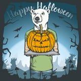 Illustration de vecteur de concept d'ours de Halloween Photo libre de droits