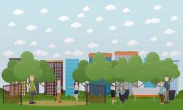 Illustration de vecteur de concept de jeux de famille dans le style plat illustration de vecteur