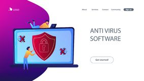 Illustration de vecteur de concept de logiciel d'antivirus illustration stock