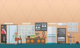 Illustration de vecteur de concept de service de tuyauterie dans le style plat Images libres de droits