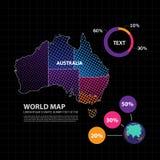 Illustration de vecteur de conception de carte d'Australie Images libres de droits