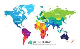 Illustration de vecteur de conception de carte du monde Photo stock
