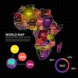 Illustration de vecteur de conception de carte de l'Afrique Photos stock
