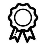 Illustration de vecteur de conception d'icône d'insigne Images libres de droits