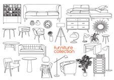Illustration de vecteur de conception intérieure Meubles de salon