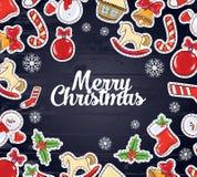 Illustration de vecteur Conception de Joyeux Noël et de bonne année 2018 illustration libre de droits
