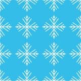 Illustration de vecteur Configuration sans joint des flocons de neige flocons de neige bleus de fond blancs EPS10 illustration libre de droits