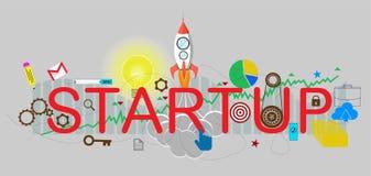 Illustration de vecteur de démarrage d'entreprise illustration libre de droits
