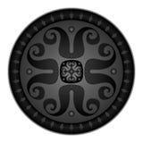 Illustration de vecteur d'écran protecteur médiéval rond Image libre de droits