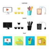 Illustration de vecteur d'éducation et de symbole d'étude Collection d'éducation et de symbole boursier d'école pour le Web illustration libre de droits