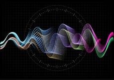 Illustration de vecteur d'égaliseur L'icône abstraite de vague a placé pour la musique et le bruit Lignes onduleuses de mouvement Photographie stock