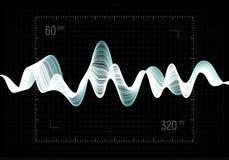 Illustration de vecteur d'égaliseur L'icône abstraite de vague a placé pour la musique et le bruit Lignes onduleuses de mouvement Images libres de droits